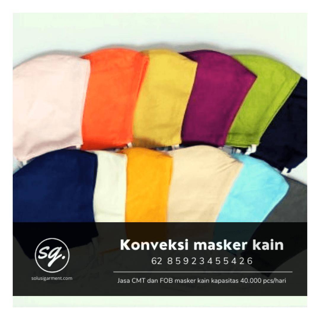 Pabrik produsen masker kain bnpb kemenkes di tangerang